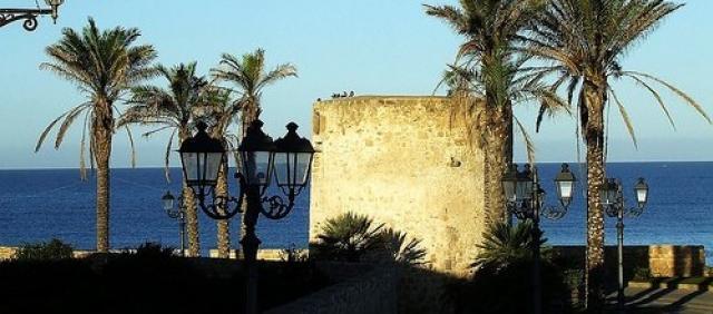 Vue sur le bastion et la mer