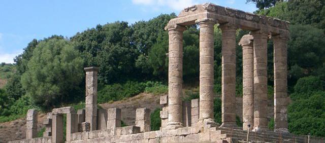 Vue sur les ruines du temple