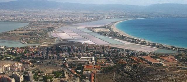 Cagliari vue du ciel