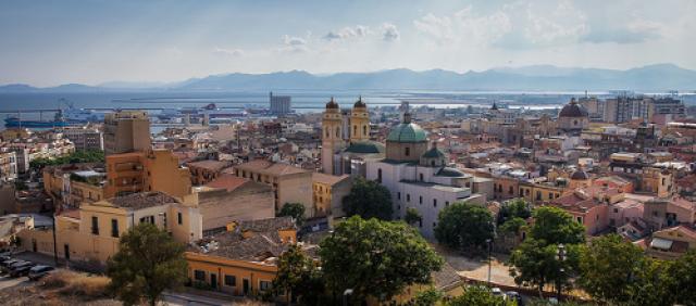 Cagliari vue d