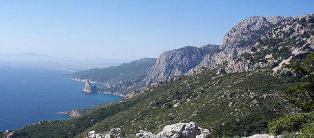 Vue sur la mer et les falaises
