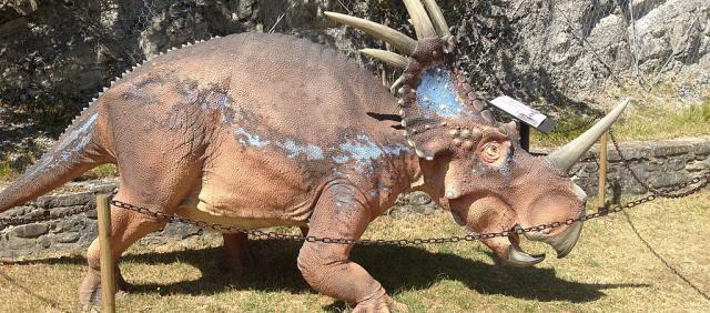 Reconstitution d'un dinosaure