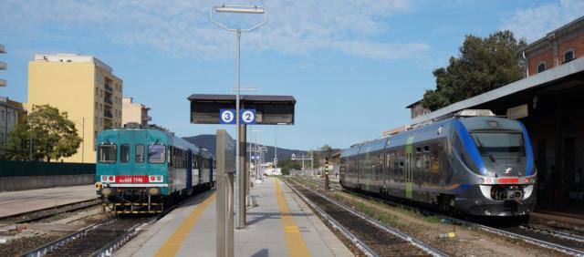 Trains gare d'Olbia